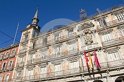 Plaza Mayor In Madrid, Spain Stock Photo - Image: 28574380