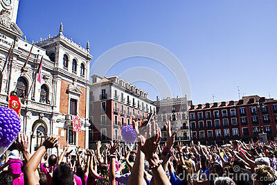 Plaza mayor in Valladolid Editorial Stock Photo