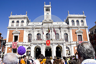 Plaza mayor in Valladolid Editorial Stock Image