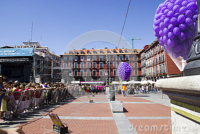 Plaza mayor in Valladolid Editorial Photography