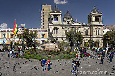 Plaza Murillo - La Paz - Bolivia Editorial Stock Image