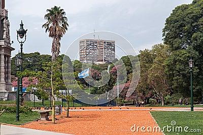 Plaza San Martin Buenos Aires Editorial Photography
