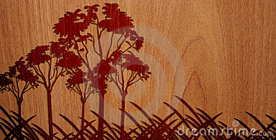 Pleasant Wood On Wood Background - Version 4