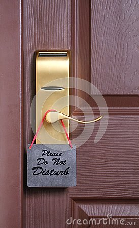 Please do not disturb message on cardboard tag