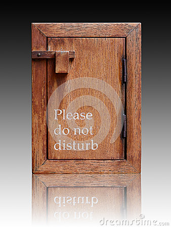 Please do not disturb sign