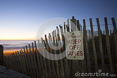 Please Keep Off the Dunes at Sunrise