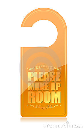 Please Make Up Room Hotel Sign Royalty Free Stock Photo