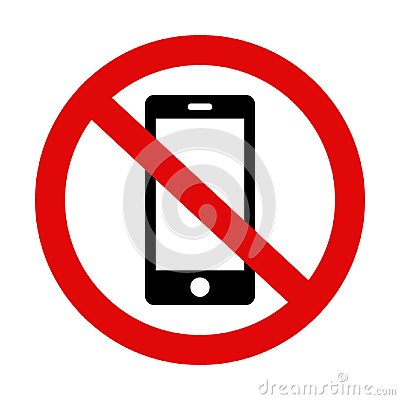 Free Please Silence Your Mobile Phone - Warning Sign No. 2 Stock Photography - 119731872