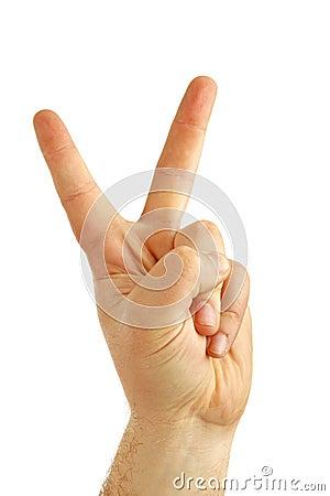 Pleased hand gesture