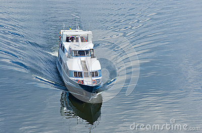 Pleasure boat on a river