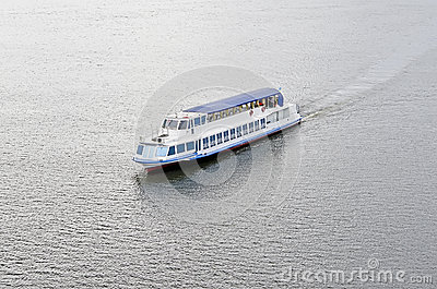 Pleasure boat on the river