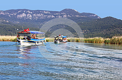 Pleasure boats Editorial Stock Photo