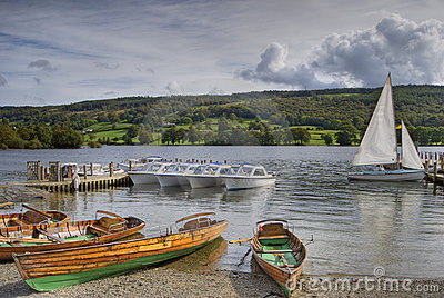 Pleasure boats on Coniston wat