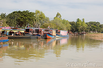 Pleasure Boats, Tonle Sap lake, Cambodia