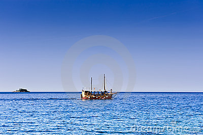 Pleasure craft boat in Adriatic sea