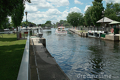 Pleasure Craft on Rideau Canal, Ontario Canada