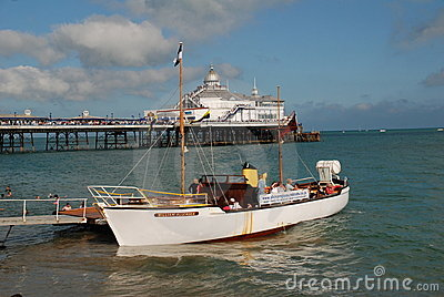 Pleasure cruise boat, Eastbourne Editorial Stock Photo