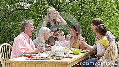 Plenerowy Rodzinny posiłek zbiory wideo