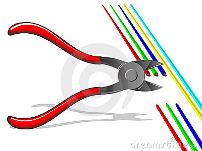 Pliers, cut off the wires