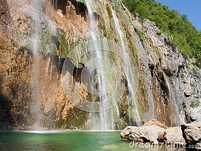 Plitvice Big Waterfall