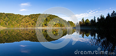 Plitvice lake reflection