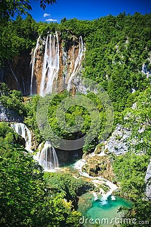 Free Plitvice National Park Waterfalls, Croatia Stock Images - 17178074