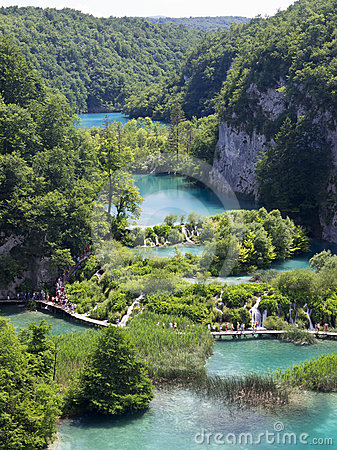 Plitvice natural Park in Croatia Editorial Photography