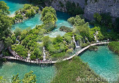 Plitvice natural Park in Croatia Editorial Image
