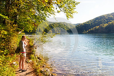Plitvice woman trail