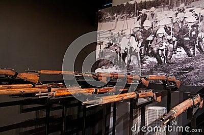 Plotone di esecuzione dalla guerra civile finlandese Immagine Stock Editoriale