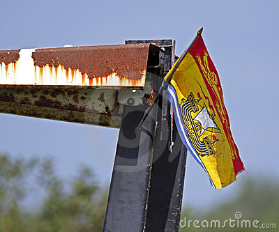 Plow plough new brunswick flag Editorial Photo