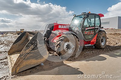 Plow tractor test-drive. Tyumen. Russia Editorial Stock Photo