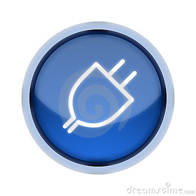 Plug-In Button in Blue