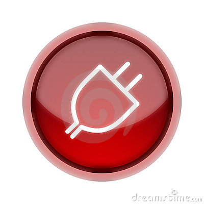 Plug-In Button in Red