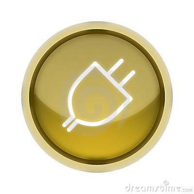 Plug-In Button in Yellow