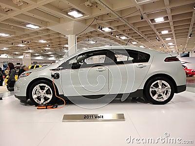 Plug-in Hybrid car Chevy Volt on display Editorial Photo