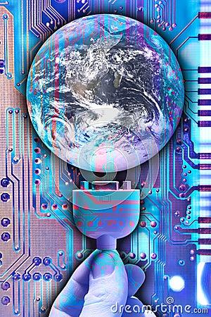 Free Plug Into The World Stock Image - 830791