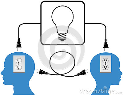 Plug in people join in loop light connection