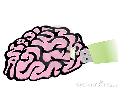 Plug in USB Flash Drive in Brain