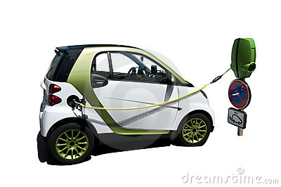 Plugged Electric Car
