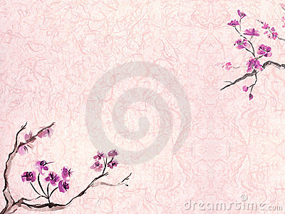 Plum blossom background