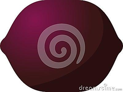 Plum fruit icon