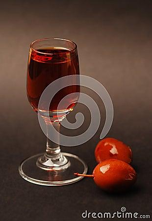 Plum liqueur - brandy