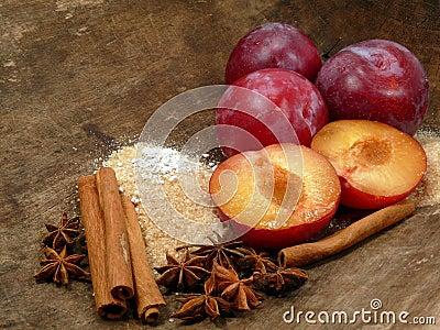 Plum-mash ingredients