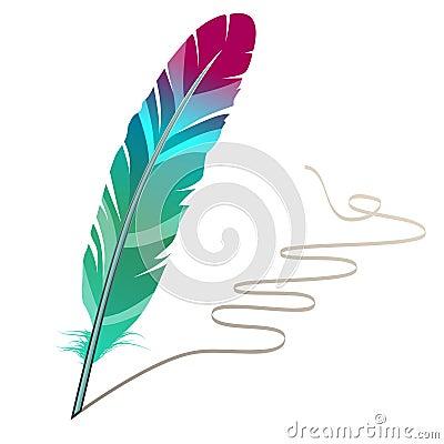 Pluma Mucho-coloreada