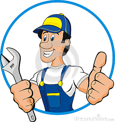 Free Plumber Cartoon Royalty Free Stock Photography - 28884597