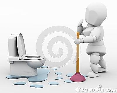 Plumber fixing a leak