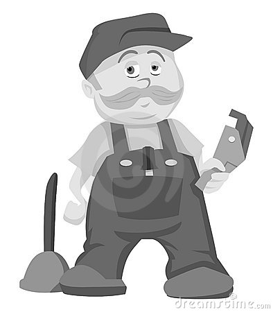 Plumber grayscale