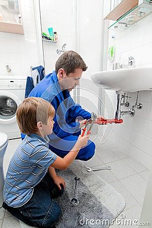 Plumbing repair sink