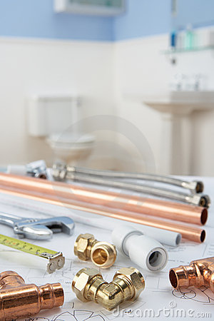 Free Plumbing Tools And Materials Royalty Free Stock Photo - 22002005